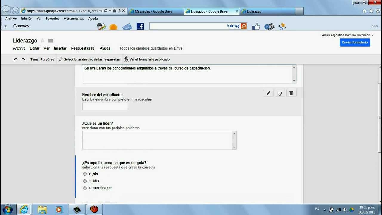 Tutorial Para Crear Formularios En Google Drive Youtube