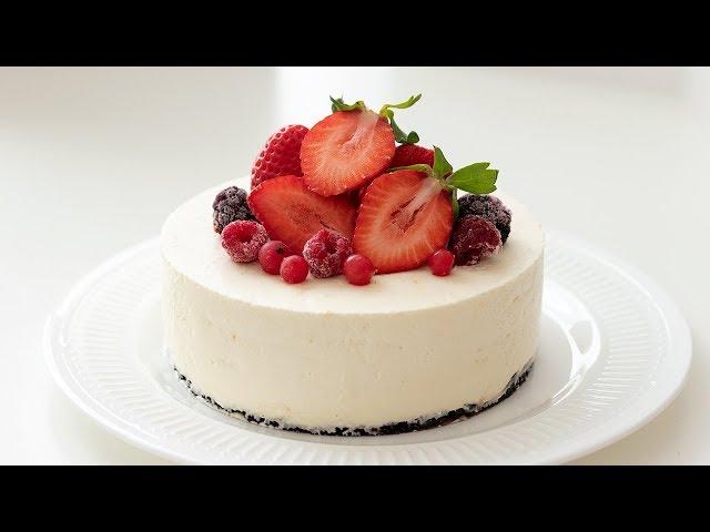 いちごのレアチーズケーキの作り方*クリスマス No-Bake Strawberry Cheesecake HidaMari Cooking