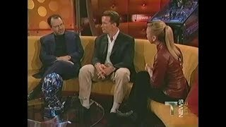 "Terminator 3 ""T News Live"" - Arnold Schwarzenegger, Jonathan Mostow And Kristanna Loken (2003)"