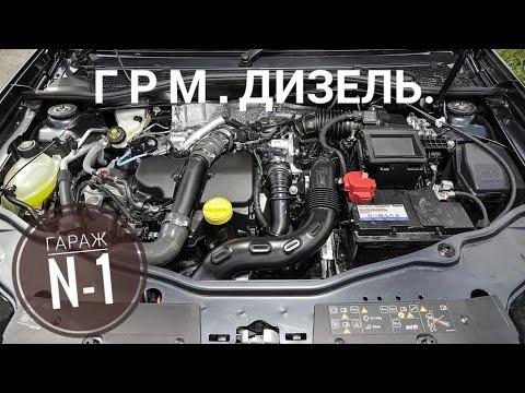 ЗАМЕНА ГРМ К9К 1.5Л ДИЗЕЛЬ РЕНО ДАСТЕР