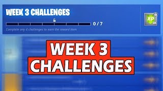 ALL FORTNITE: WEEK 3 CHALLENGES! SEASON 6 BATTLE PASS GUIDE