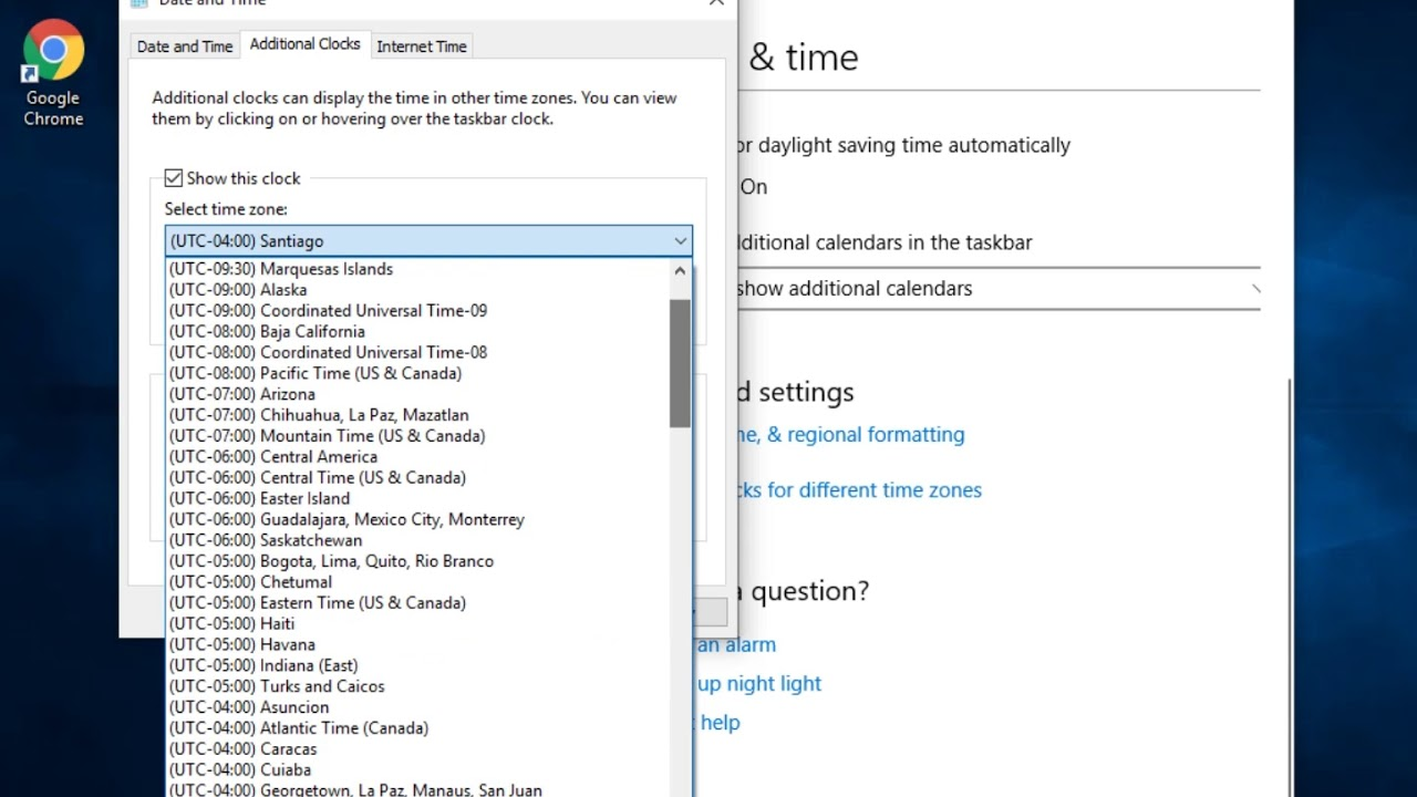 How to Show Multiple Clocks on Windows 10, 8, 7