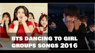 Cover images 💚 BTS (방탄소년단) dancing to girl groups' songs 2016 💚