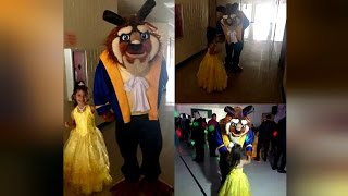 Overseas Dad Arranges For Costumed Beast For 5-Year-Old Daughter at Disney Dance