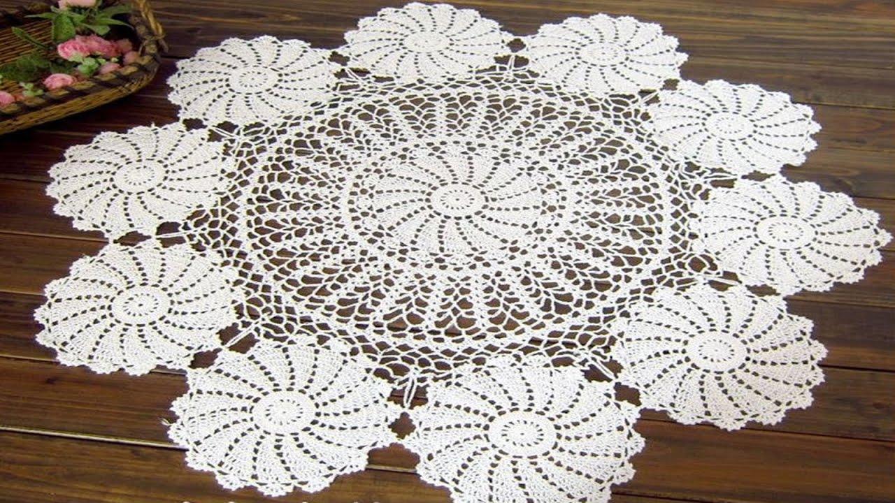 Manteles para mesas redondas y cuadradas tejidos a crochet for Mesas redondas para comedor