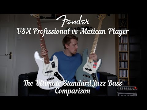 The Ultimate Fender Jazz Bass Comparison: Professional Vs Player! USA Vs MIM!