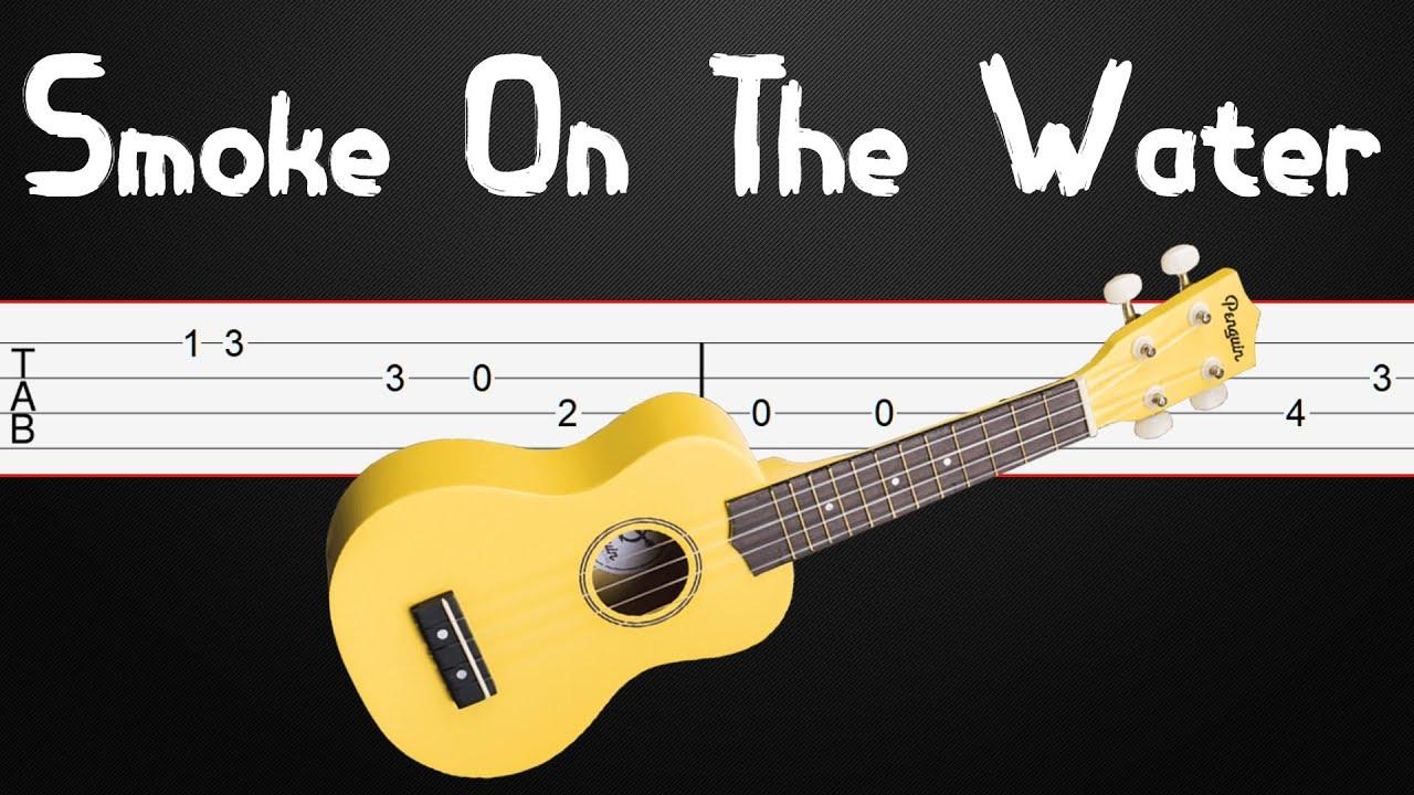 Ukulele EASY - Smoke On The Water - How to play on ukulele (Ukulele Tabs)