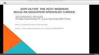 Build an eBay Education Specialist (ES) Career by Top Rated Seller Webinars