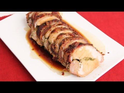 Rosemary Stuffed Pork Loin Recipe - Laura Vitale - Laura in the Kitchen Episode 694