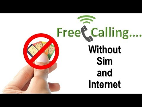 Unlimited Calling Without SIM CARD And Internet || Free Calling Forever