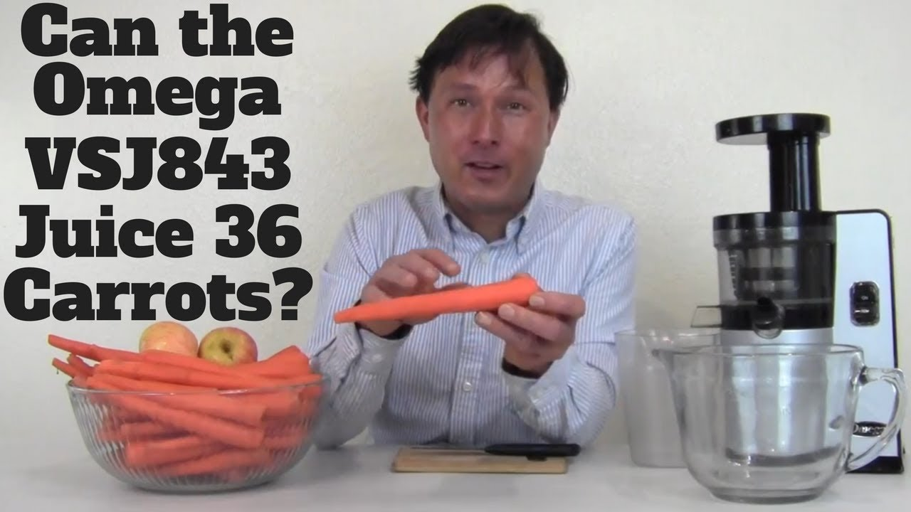 Can the Omega vSJ843 Slow Juicer Juice 36 Carrots ? - YouTube