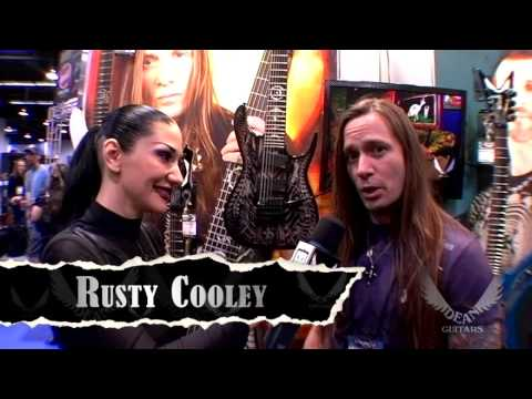 Supershredder Rusty Cooley shows off his new Dean Signature models