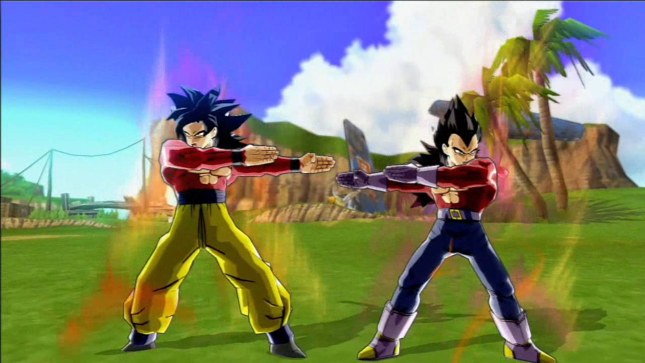 Dragon Ball Z Budokai 3 HD SSJ4 Gogeta Vs Trunks YouTube