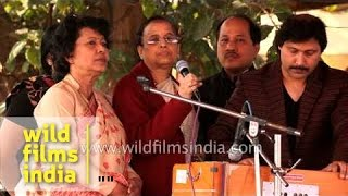 Assamese folks in Delhi sing Bihu song