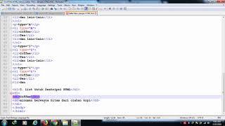 Belajar HTML Part 14: Cara Membuat Daftar Menu dengan HTML Mp3