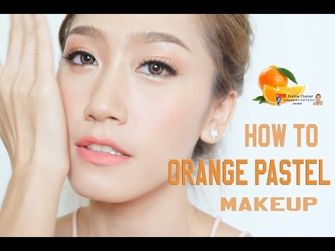 How to แต่งหน้าโทนสีส้มพาสเทลฟรุ้งฟริ้ง [orange pastel makeup] - inspired Korea Model