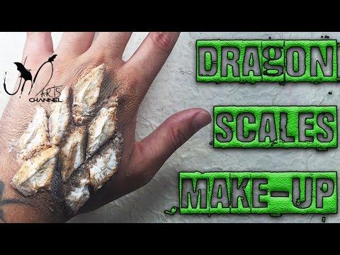 Halloween Make Up Tutorial Dragon Scales Youtube