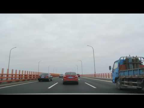 20170131_Driving onto Hangzhou Bay Bridge northward