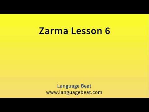 Learn Zarma   :  Lesson 6  -  Zarma  Phrases for Beginners