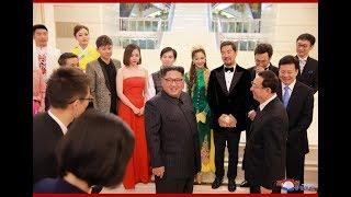 朝鲜金正恩3日在平壤万寿台艺术剧院观看了朝中艺术家的联合演出