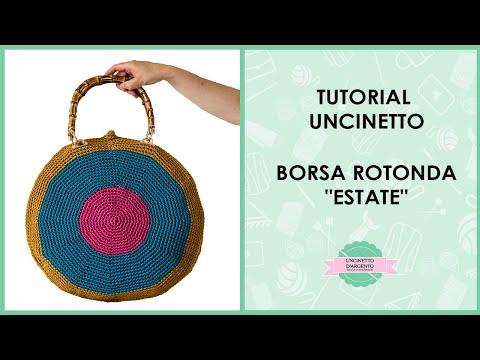 Tutorial Crochet Round Bag Estate With Sub Uncinetto Dargento