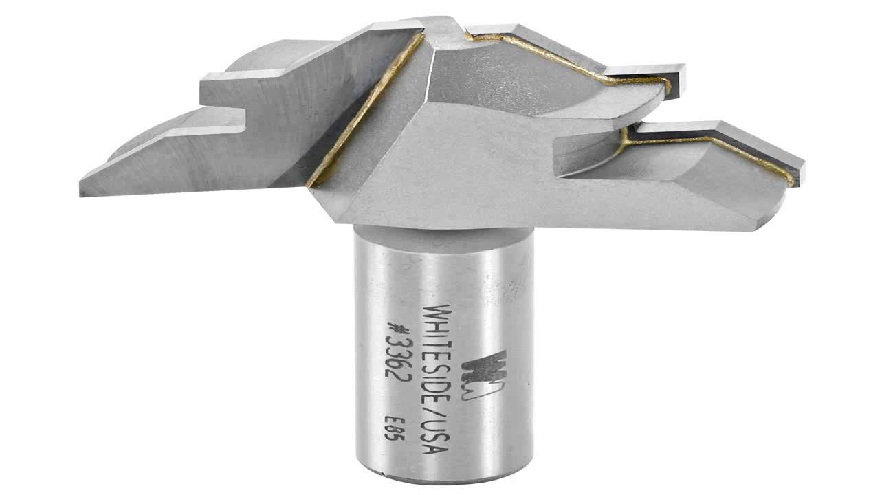Whiteside Router Bits 3362 45-Degree Lock Miter with 2-Inch Large Diameter and 1//2-Inch to 3//4-Inch Cutting Length