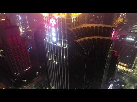 DJI Phantom 4 Pro Epic Skyline Nightshot Shenzhen