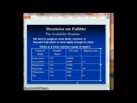 Heuristics & Decision Making