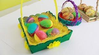 Пасхальные корзинки и радужные яйца - как сделать/ DIY Easter baskets for eggs