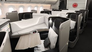 Air Canada Boeing 787 Dreamliner Business Class from Brussels to Montreal