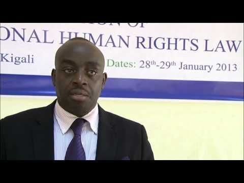Chris Mburu Speaks on International Human Rights Law in Kigali