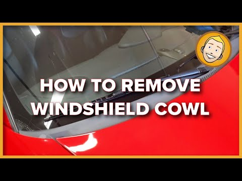 How to REMOVE/INSTALL WINDSHIELD WIPER COWL PANEL | Porsche 986 996 987 997