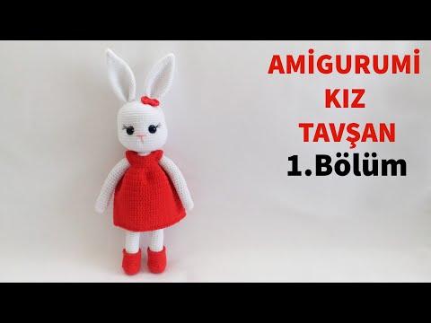 Amigurumi Örgü Kız Tavşan Yapımı /  Kol, Bacak Ve Gövde Yapılışı 1/4 (Gül Hanım)