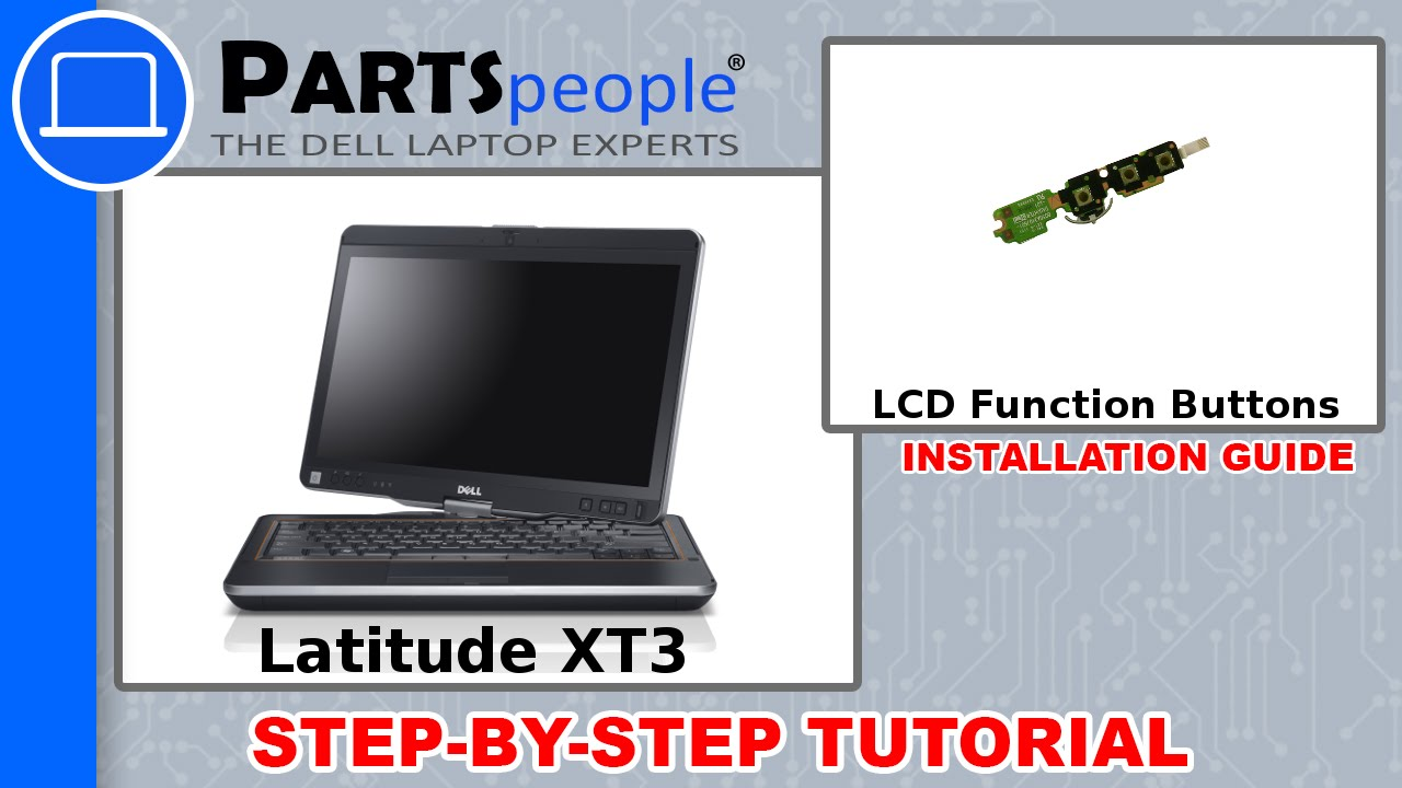 Dell Latitude XT3 LCD Function Buttons How-To Video Tutorial
