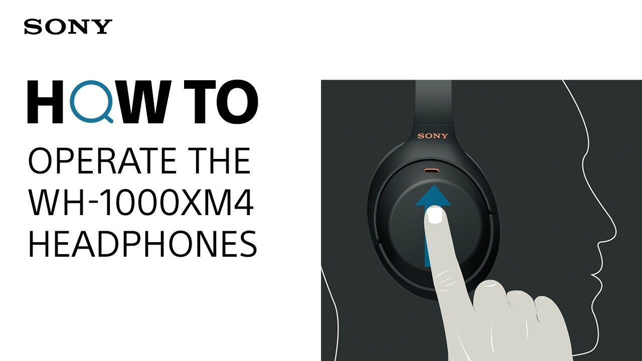 How to operate the WH-1000XM4 headphones