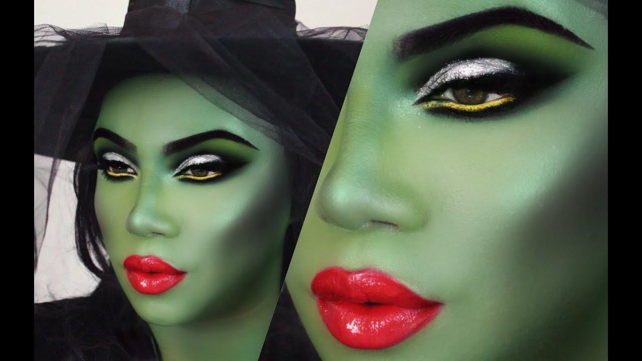 Halloween Green Witch Makeup Tutorial