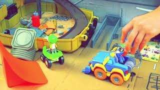 Игрушки Большая Коробка Машинки Хот Вилс Монстр Трак Rev and Roll. Супер ТРЕК Своими Руками