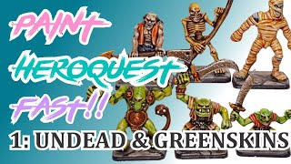 How to paint your Heroquest minis FAST with washes part 1: greenskins and undead!