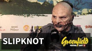 Was für eine Ehre! Moderator Anthony durfte den Slipknot-Frontmann ...