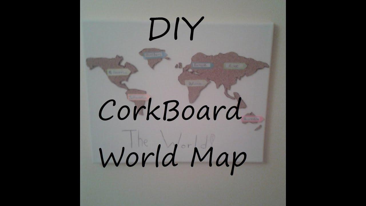 Diy corkboard world map youtube diy corkboard world map gumiabroncs Gallery