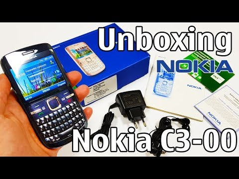 Nokia C3-00 Unboxing 4K with all original accessories RM-614 review