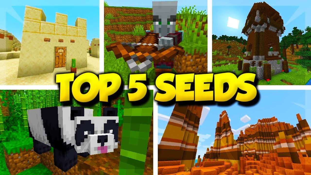 Top 5 Seeds For Minecraft 114 Minecraft Village Pillage Seeds