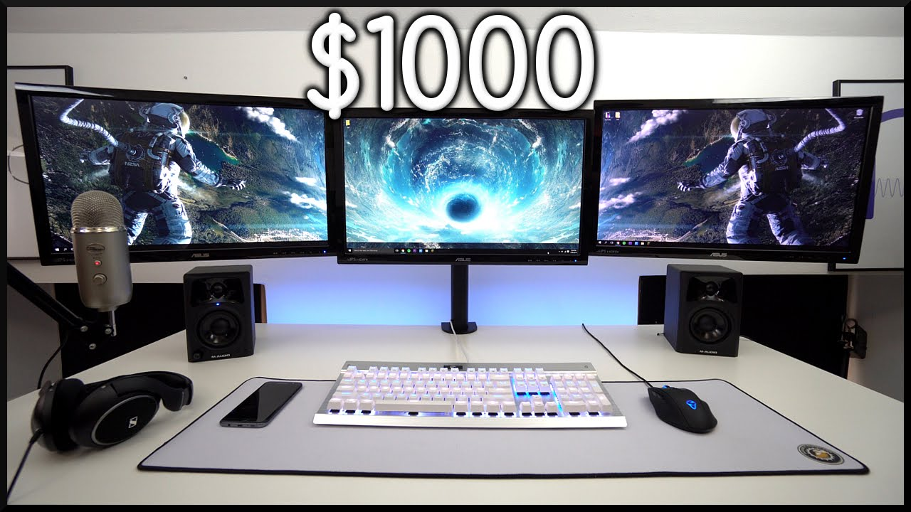 BEST Triple Monitor Gaming Setup for $1000!