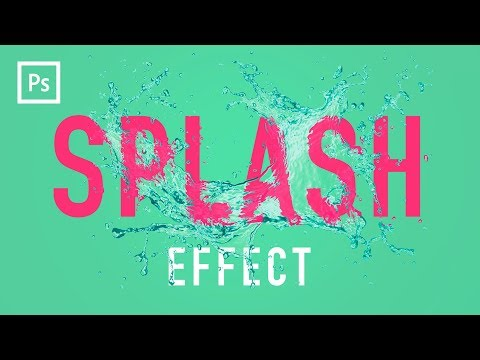 Photoshop Tutorials - Water Splash Effect (Displacement Mapping)