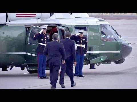 Marine One Helicopter – President Barack Obama Takes Off