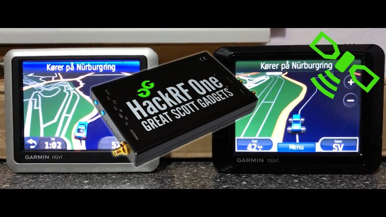 GPS spoofing with the HackRF One ( Nürnberg Ring drive ) 🚗