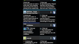 Android App Social Network OverView