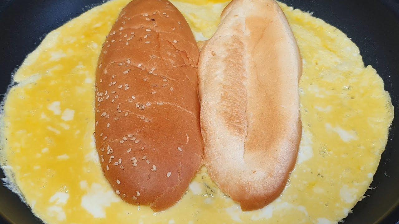 원팬 달걀 토스트 만들기 (How to make a one pan egg toast )