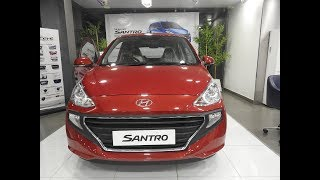 Hyundai Santro Sportz Red Colour 2018 Quick WalkAround Review || Interiors || Exteriors