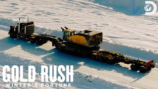 Hauling a Massive Excavator in -24 Degrees!   Gold Rush: Winter's Fortune